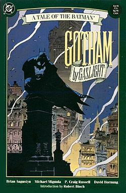 Gotham by Gaslight cover by Mike Mignola